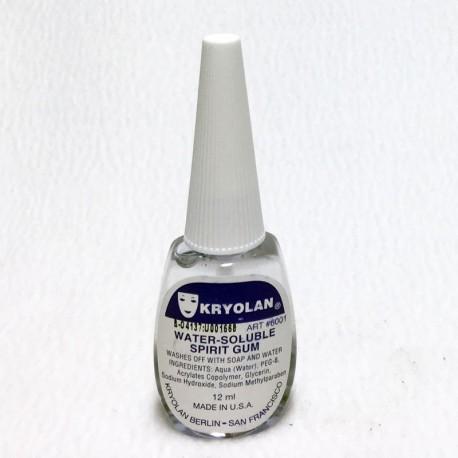 Kryolan Water-Soluble Spirit Gum - .4 oz