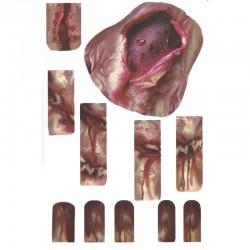 Zombie Maggoty Hand Tattoo