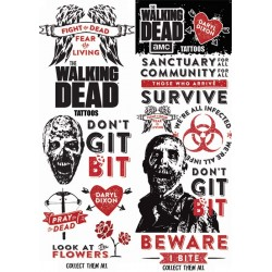 The Walking Dead Temporary Tattoos