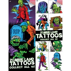 Zombie Land Temporary Tattoos