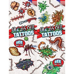 Gross Out Temporary Tattoos