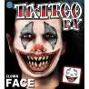 Clown Face Temporary Tattoo