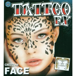 Cheetah Face Temporary Tattoo