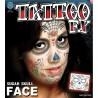 Sugar Skull Face Temporary Tattoo