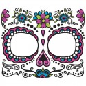 Day of the Dead Face Temporay Tattoo