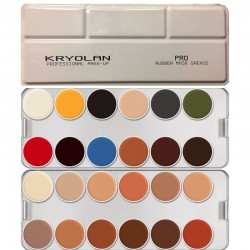 Kryolan Rubber Mask Grease 24-Color Pro Palette