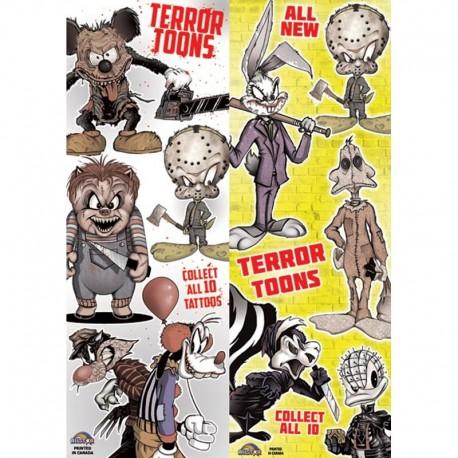 Terror Toons Temporary Tattoos