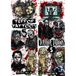 Terror Series 5 Temporary Tattoos