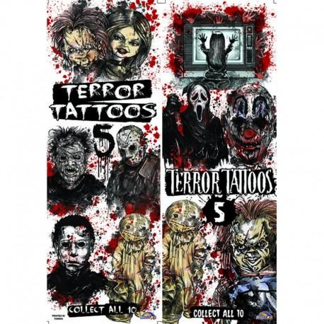 Terror Series 5 Temporary Tattoos