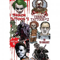 Terror Series 2 Temporary Tattoos