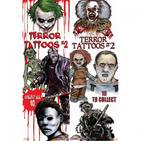 Terror Series 2 Temporary Tattoos