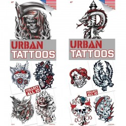 Urban 4 Temporary Tattoos