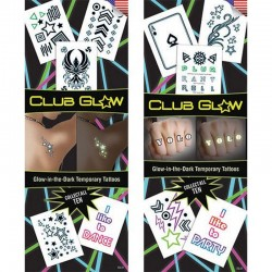 Club Glow Temporary Tattoos