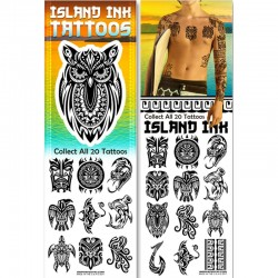 Island Ink Temporary Tattoos