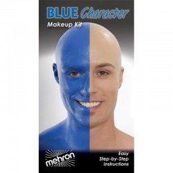 Mehron Blue Person Makeup Kit
