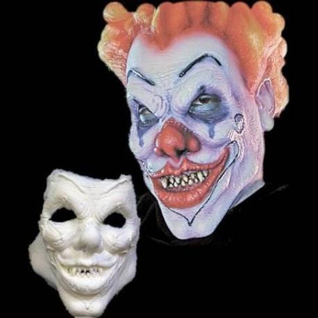 Foam Latex Evil Clown Face