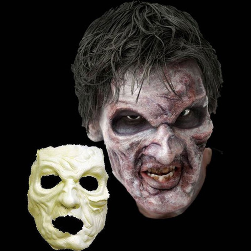 Zombie Face Foam Latex Prosthetic