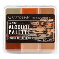 Graftobian F/X Aire Alcohol Palette - Tattoo Cover 1