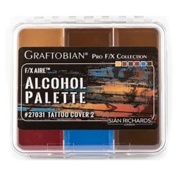 Graftobian F/X Aire Alcohol Palette - Tattoo Cover 2