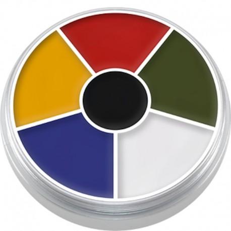 Kryolan Cream Color Circle - Multi Color