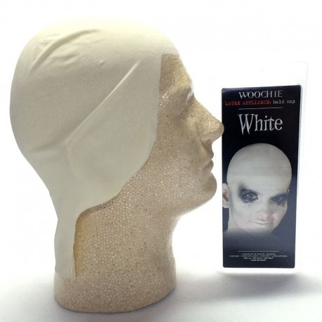 Woochie Latex Bald Cap - White
