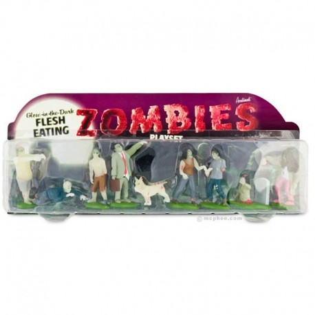 Glow-in-the-Dark Zombie Playset
