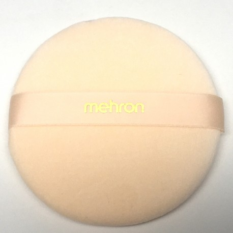 Mehron Peach Powder Puff - 4.75-inch