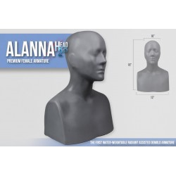 Deluxe Life-Size Full Alanna Head Armature