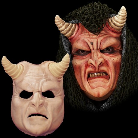 Demon Face Foam Latex Prosthetic