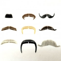 Hand-Tied Human-Hair Moustaches
