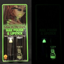 Glow-in-the-Dark Lipstick & Nail Polish