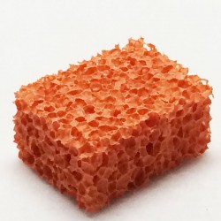 Orange Rubber Pore Sponge