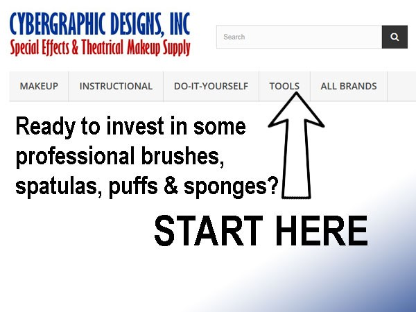 Buy brushes, spatulas, puffs and sponges.